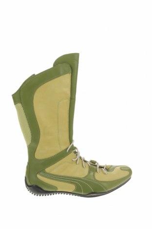 Cizme de damă PUMA, Mărime 36, Culoare Verde, Piele naturală, textil, Preț 444,08 Lei