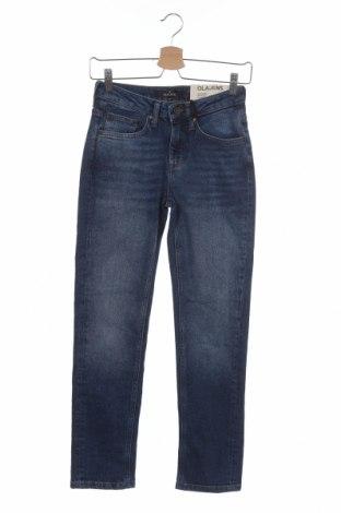 Дамски дънки, Размер XS, Цвят Син, 99% памук, 1% еластан, Цена 29,93лв.