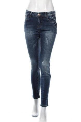 Дамски дънки, Размер S, Цвят Син, 73% памук, 20% полиестер, 5% вискоза, 2% еластан, Цена 25,20лв.