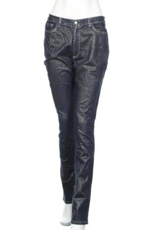 Дамски дънки, Размер L, Цвят Син, 98% памук, 2% еластан, Цена 20,53лв.