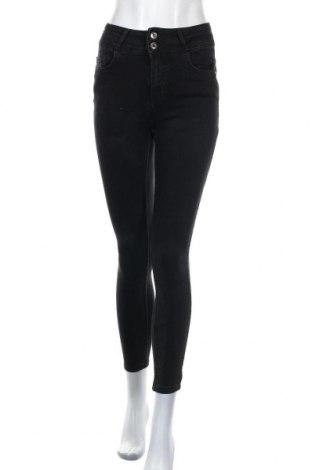 Дамски дънки Amisu, Размер M, Цвят Черен, 71% памук, 18% полиестер, 8% вискоза, 3% еластан, Цена 26,46лв.