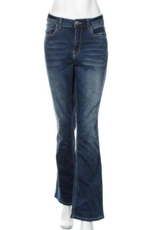 Дамски дънки Arizona, Размер L, Цвят Син, 69% памук, 29% полиестер, 2% еластан, Цена 27,30лв.