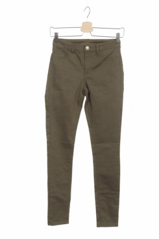 Дамски дънки Clothing & Co, Размер XS, Цвят Зелен, 63% памук, 35% полиестер, 2% еластан, Цена 6,83лв.