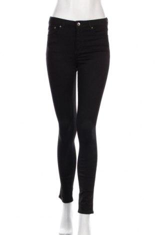 Дамски дънки H&M, Размер S, Цвят Черен, 89% памук, 7% полиестер, 4% еластан, Цена 27,30лв.