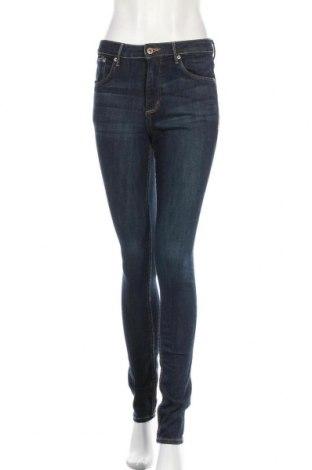 Дамски дънки H&M, Размер S, Цвят Син, 94% памук, 4% полиестер, 2% еластан, Цена 24,10лв.