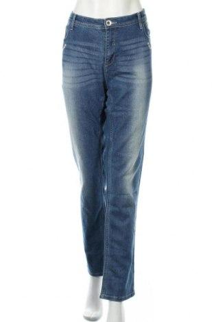 Дамски дънки Janina, Размер XL, Цвят Син, 69% памук, 30% полиестер, 1% еластан, Цена 25,20лв.