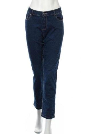 Дамски дънки Laura Torelli, Размер L, Цвят Син, 73% памук, 25% полиестер, 2% еластан, Цена 16,17лв.