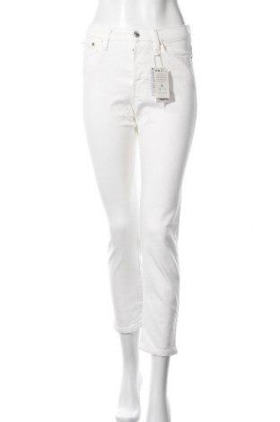 Дамски дънки Mango, Размер S, Цвят Бял, 99% памук, 1% еластан, Цена 59,25лв.
