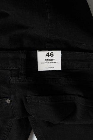 Дамски дънки Mango, Размер XL, Цвят Черен, 86% памук, 12% полиестер, 2% еластан, Цена 25,37лв.