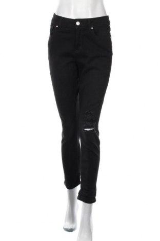 Дамски дънки Now, Размер L, Цвят Черен, Памук, еластан, Цена 15,59лв.