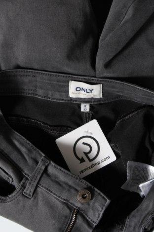 Дамски дънки ONLY, Размер S, Цвят Сив, 50% памук, 29% полиестер, 19% памук, 2% еластан, Цена 17,16лв.