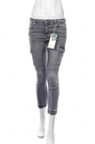 Дамски дънки ONLY, Размер M, Цвят Сив, 98% памук, 2% еластан, Цена 23,46лв.