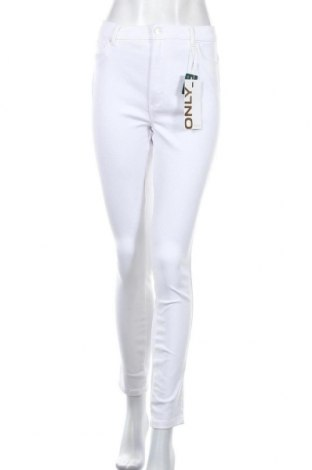 Дамски дънки ONLY, Размер XL, Цвят Бял, 69% памук, 28% полиестер, 3% еластан, Цена 15,64лв.