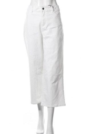 Дамски дънки Object, Размер L, Цвят Бял, 98% памук, 2% еластан, Цена 23,70лв.