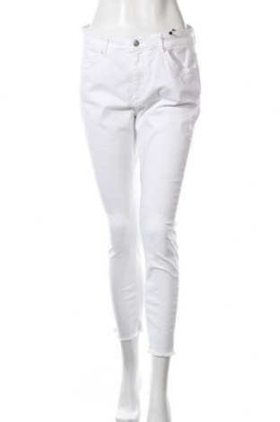 Дамски дънки Only Carmakoma, Размер XL, Цвят Бял, 93% памук, 5% полиестер, 2% еластан, Цена 24,49лв.