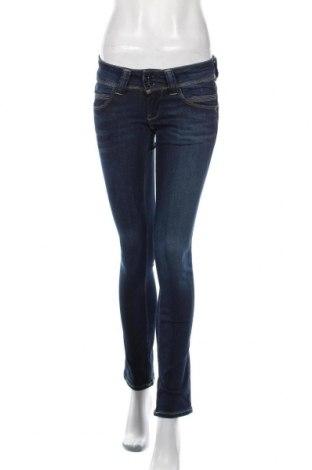 Дамски дънки Pepe Jeans, Размер S, Цвят Син, 84% памук, 14% полиестер, 2% еластан, Цена 119,25лв.