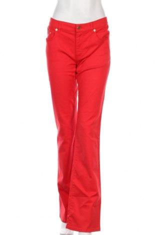 Дамски дънки Red Valentino, Размер L, Цвят Червен, 98% памук, 2% еластан, Цена 106,50лв.