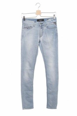 Дамски дънки Replay, Размер S, Цвят Син, 94% памук, 6% еластан, Цена 87,15лв.