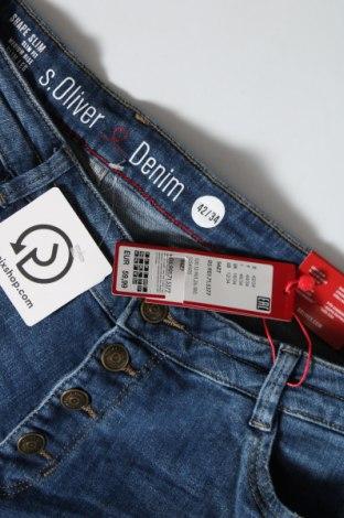 Дамски дънки S.Oliver, Размер XL, Цвят Син, 99% памук, 1% еластан, Цена 61,50лв.