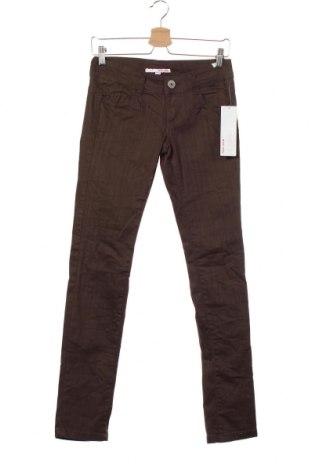 Дамски дънки Tally Weijl, Размер XS, Цвят Зелен, 98% памук, 2% еластан, Цена 18,01лв.