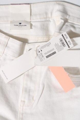 Дамски дънки Tom Tailor, Размер L, Цвят Бял, 98% памук, 2% еластан, Цена 42,72лв.
