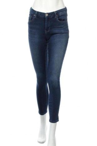 Дамски дънки Uniqlo, Размер M, Цвят Син, 66% памук, 32% полиестер, 2% еластан, Цена 23,21лв.