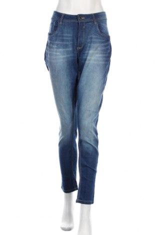Дамски дънки Yessica, Размер XL, Цвят Син, 71% памук, 27% полиестер, 2% еластан, Цена 13,65лв.