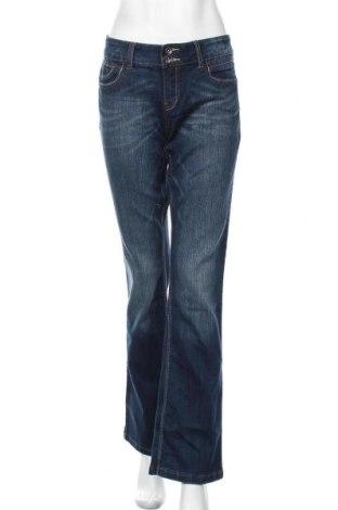 Дамски дънки Yessica, Размер L, Цвят Син, 79% памук, 19% полиестер, 2% еластан, Цена 16,38лв.