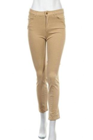 Дамски дънки Zara, Размер S, Цвят Бежов, 91% памук, 9% еластан, Цена 17,10лв.
