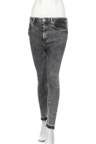 Дамски дънки Zara, Размер L, Цвят Сив, 95% памук, 3% полиестер, 2% еластан, Цена 37,49лв.