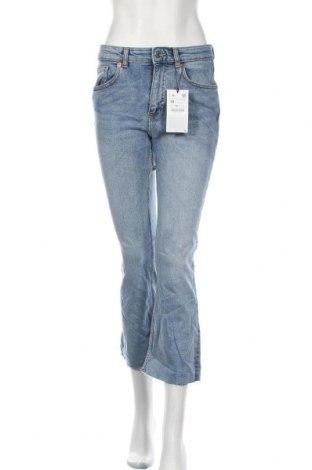 Дамски дънки Zara, Размер M, Цвят Син, 98% памук, 2% еластан, Цена 16,28лв.