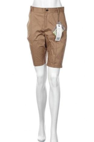 Pantaloni scurți de femei Onitsuka Tiger, Mărime M, Culoare Bej, 98% bumbac, 2% elastan, Preț 45,39 Lei