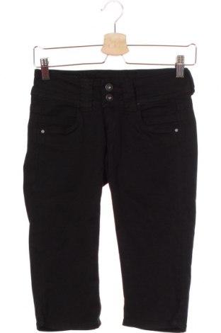 Pantaloni scurți de femei Pepe Jeans, Mărime XS, Culoare Negru, 97% bumbac, 3% elastan, Preț 55,26 Lei