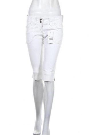 Pantaloni scurți de femei Tomster USA, Mărime S, Culoare Alb, 98% bumbac, 2% elastan, Preț 41,97 Lei