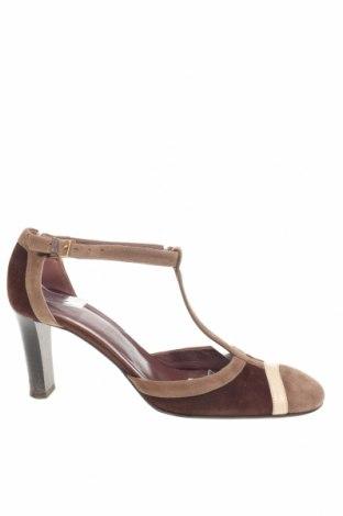 Дамски обувки Bally, Размер 37, Цвят Кафяв, Естествен велур, Цена 99,20лв.