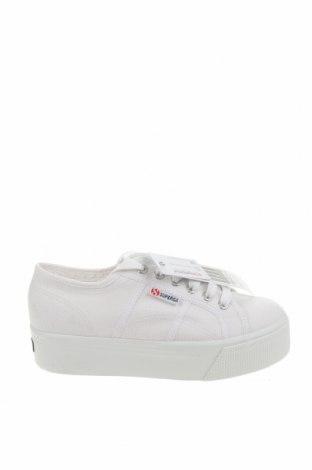 Дамски обувки Superga, Размер 39, Цвят Бял, Текстил, Цена 53,55лв.
