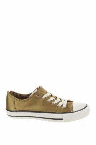 Дамски обувки Zara, Размер 37, Цвят Златист, Текстил, Цена 28,12лв.