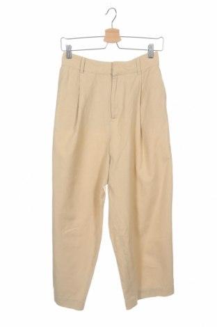 Дамски панталон Urban Outfitters, Размер XS, Цвят Бежов, 78% памук, 22% лен, Цена 28,89лв.