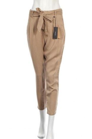Дамски панталон Vero Moda, Размер M, Цвят Кафяв, 98% памук, 2% еластан, Цена 32,45лв.