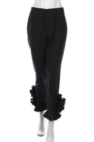 Γυναικείο παντελόνι Zara, Μέγεθος S, Χρώμα Μαύρο, 62% μαλλί, 34% πολυεστέρας, 4% ελαστάνη, Τιμή 11,55€