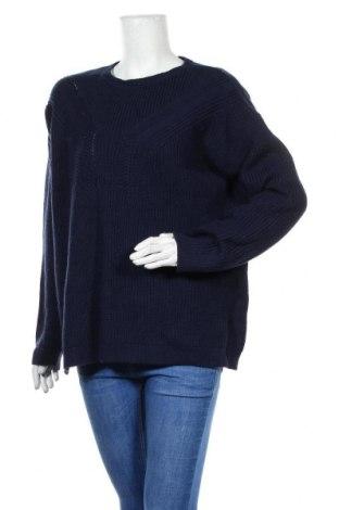 Дамски пуловер Cortefiel, Размер XL, Цвят Син, 85% акрил, 15% памук, Цена 24,36лв.