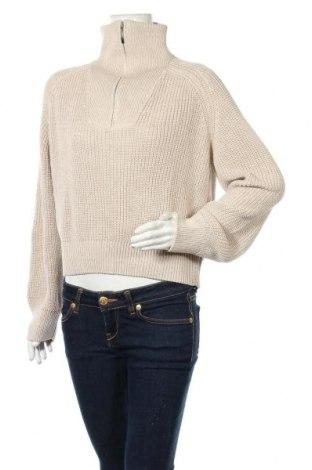 Dámský svetr NU-IN, Velikost M, Barva Béžová, 50% vlna, 50% polyester, Cena  599,00Kč