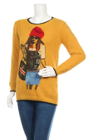 Дамски пуловер Osley, Размер M, Цвят Жълт, 55% полиамид, 45% акрил, Цена 21,42лв.
