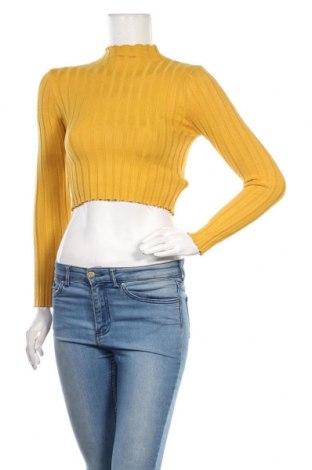 Дамски пуловер SHEIN, Размер M, Цвят Жълт, Акрил, Цена 14,49лв.