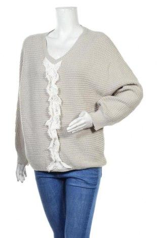 Дамски пуловер SHEIN, Размер L, Цвят Сив, Акрил, Цена 17,06лв.