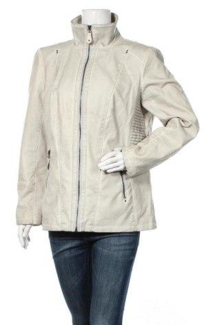 Geacă de piele pentru femei C&A, Mărime XL, Culoare Gri, Piele ecologică, Preț 60,10 Lei