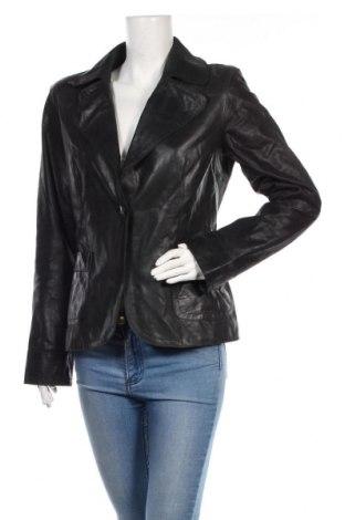 Дамско кожено яке Part Two, Размер M, Цвят Черен, Естествена кожа, Цена 84,11лв.