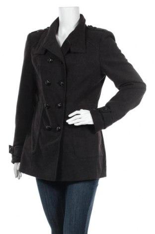 Дамско палто Aniston, Размер M, Цвят Черен, 77% полиестер, 20% вискоза, 3% еластан, Цена 44,10лв.