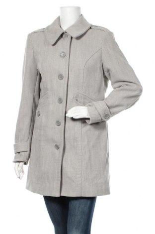 Дамско палто Buffalo, Размер L, Цвят Сив, 77% полиестер, 20% вискоза, 3% еластан, Цена 26,46лв.