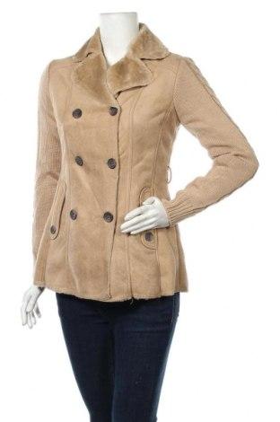 Дамско палто Roosevelt, Размер S, Цвят Бежов, Полиестер, Цена 46,87лв.